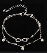 Bracelet de cheville double noeud de l'infini