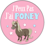 Porte clé J'ai poney