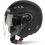 CASCO AIROH JET CITY ONE COLOR DOPPIA VISIERA BLACK MATT