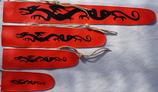 Schwerthüllen aus Kunstleder mit Jutebändel zum Umbinden