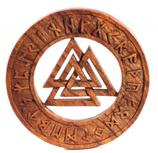Walknut mit Runen - ws273