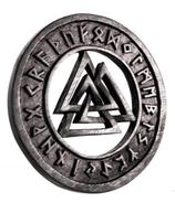 Walknut mit Runen - ws273-2