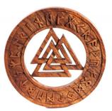 Walknut mit Runen - ws305