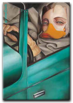 """Magnet """"Tamara im grünen Bugatti"""""""
