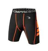 VANSYDICAL COMPRESSION SHORTS BLACK/ORANGE