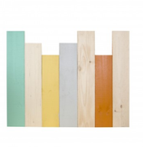 CABECERO MADERA LAPICES COLORES