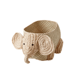 Aufbewahrungskorb Seegras Elefant