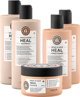 Maria Nila Head & Hair Heal 5er Set, 2x Shampoo, 2x Conditioner, 1x Maske