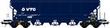 504691 Graanwagen 102m3 blauw VTG CH. met sluitverlichting DCC Bedrijfsnummer 0764 254-9