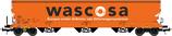 508605 Graanwagen 130m3 oranje Wascosa bedrijfsnummer 0764 117-4