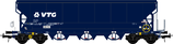 504693 Graanwagen 102m3 blauw VTG Bedrijfsnummer 0764 243-2 met sluitverlichting DCC