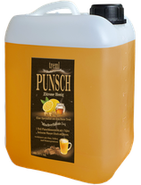 Zitrone-Honig Punsch im Kanister