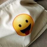 """Mundmaske """"Zunge"""" aus Baumwolle mit Fleece-Einlage"""