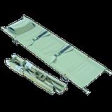 Krankentrage DIN 13024 N, zweimal klappbar, mit 4 Gleitfüßen,