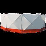 Mobile Sichtschutzwand 4*180*180 weiss/rot,