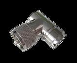 PL259 UHF-Adapter 90° Männlich/Weiblich
