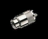PL259 UHF-Stecker RG8 & RG9 Kabel (zum verlöten)