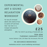 Art and Sound Relaxation Workshop (1 hour)
