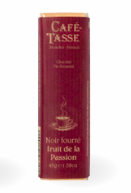 Café Tasse - CHOCOLAT NOIR FOURRÉ FRUIT DE LA PASSION - 45gr