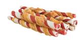 TRIXIE DENTA FUN Barbecue Chicken Chewing Rolls, Rinderhaut mit Hühnerfleisch, 10 Stück / 80g, 12 cm (100g / 4,36€)