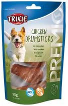 TRIXIE PREMIO Chicken Drumsticks, 5 Stück / 95 g, Snackknochen ummantelt mit Hühnerfleisch (1 Stck / 0,40€)