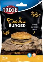 TRIXIE Chicken Burger, mit Huhn und Rinderhaut, 140 g, glutenfrei (100g / 2,85€)