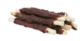 TRIXIE DENTA FUN Ostrich Chewing Rolls, Rinderhaut mit Straußenfleisch, 100 g, 12 cm (100g / 4,49€)