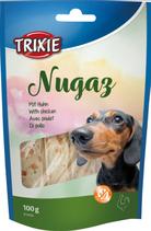 TRIXIE Nugaz, mit Rinderhaut und Huhn, Glutenfrei, 100g (100g / 2,29€)