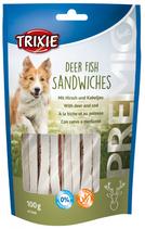 TRIXIE PREMIO Deer Fish Sandwiches, 100g, mit Hirsch und Kabeljau, Glutenfrei (100g / 2,99€)