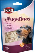 TRIXIE Nugatinos, mit Rinderhaut und Ente, Glutenfrei, 100g (100g / 2,29€)