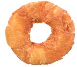 TRIXIE DENTA FUN Filled Chicken Chewing Ring, Rinderhaut mit Hühnerfleisch, gefüllt mit Rinderleber- und Lunge, Ø 11 cm, 65 g (100g / 4,60€)