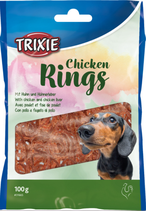 TRIXIE Chicken Rings, mit Huhn und Hühnerleber, 100g (100g / 1,99€)