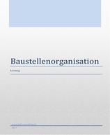 Lehrmittel Baustellenorganisation (Lösung)