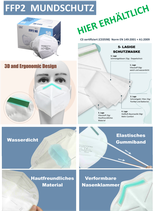 Atemschutzmaske FFP2 CE Zertifiziert