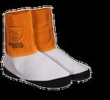 Rhinoweld Schweißer Gamaschen AC205 Leder Gamaschen Rind Spalt Leder kurz (15cm)