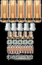 Set für Schweiß Brenner MB 401/501 Gasdüse Gasverteiler Düsenstock Stromdüse 0,8-1,2