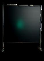 Schweißschutz Stellwand Cepro Gazelle 2 x 2 m grün mit Gestänge