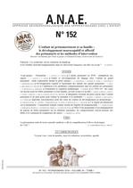 ANAE N° 152 - L'enfant prématuré, développement neurocognitif et affectif - Méthodes d'intervention