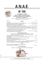ANAE N° 159 - La déficience visuelle chez les enfants et les adolescents