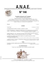 ANAE N° 144 - Troubles du Spectre de l'Autisme