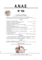 ANAE N° 160 - Le Syndrome de Williams - Les aspects développementaux de la fonction exécutive chez les enfants typiques et atypiques