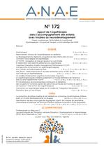 ANAE N°172 - Apport de l'ergothérapie dans l'accompagnement des enfants avec troubles du neurodéveloppementroduit