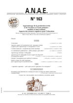ANAE N° 163 - Apprentissage de l'écriture : apports des Sciences cognitives