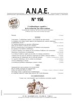 ANAE N° 156  - L'arithmétique cognitive : de la recherche aux interventions