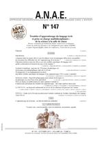 ANAE N° 147 - Troubles d'apprentissage du langage écrit et prise en charge multidisciplinaire : de la science à la salle de classe
