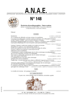 ANAE N° 148 - Dyslexies - Dysorthographies - Intervention