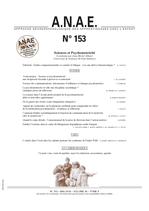 ANAE N° 153 - Sciences et Psychomotricité
