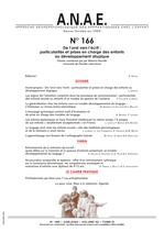 ANAE N° 166 - De l'oral à l'écrit : particularités et prises en charge des enfants au développement atypique
