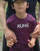 RUNS‐Tシャツ キッズ パープル