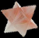 Etoile Merkaba Quartz rose - 4 cm